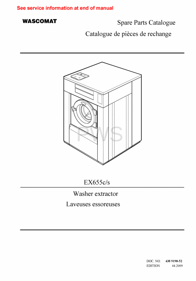 Diagrams  Parts And Manuals For Wascomat Ex655c  S Washer