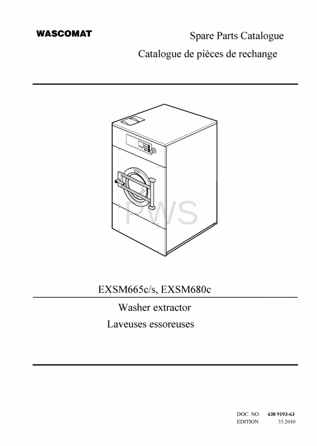 Diagrams Parts And Manuals For Wascomat Exsm665c S Washer