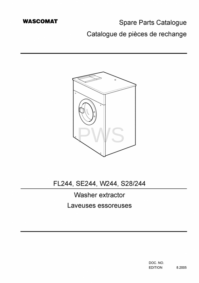 Diagrams  Parts And Manuals For Wascomat Fl244 Washer