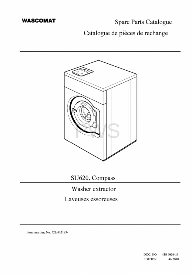 Diagrams Parts And Manuals For Wascomat Su620 Compass Washer
