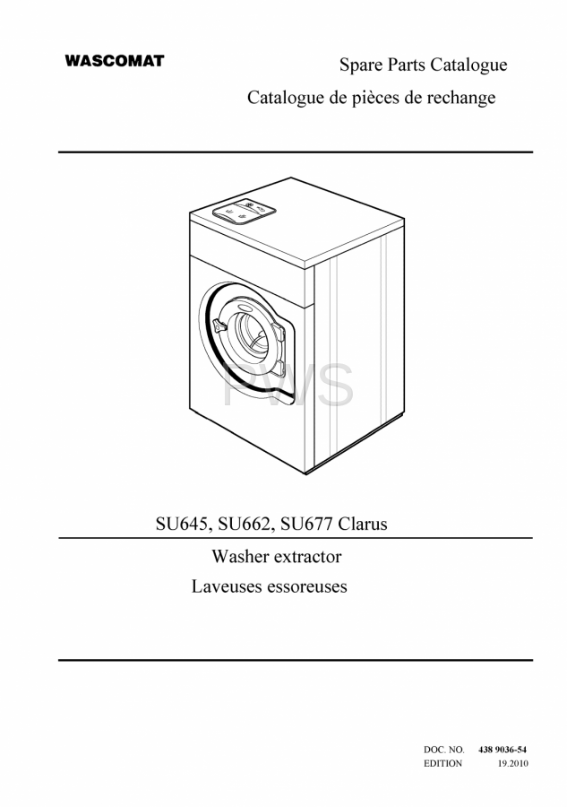 Diagrams  Parts And Manuals For Wascomat Su645 Washer
