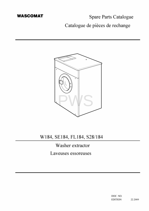 diagrams parts and manuals for wascomat w184 washer rh pwslaundry com wascomat w640 wiring diagram wascomat w125 wiring diagram