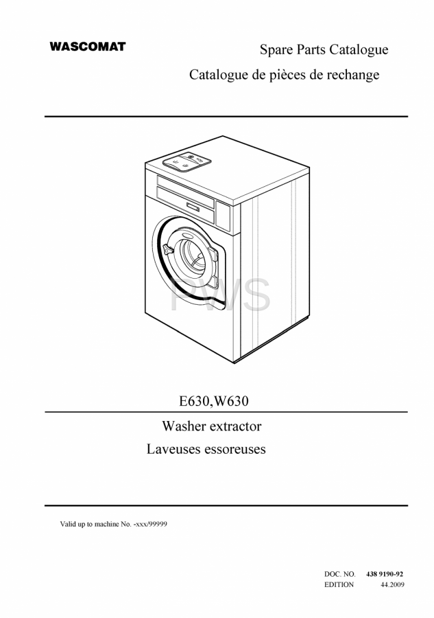 Diagrams  Parts And Manuals For Wascomat W630 Washer
