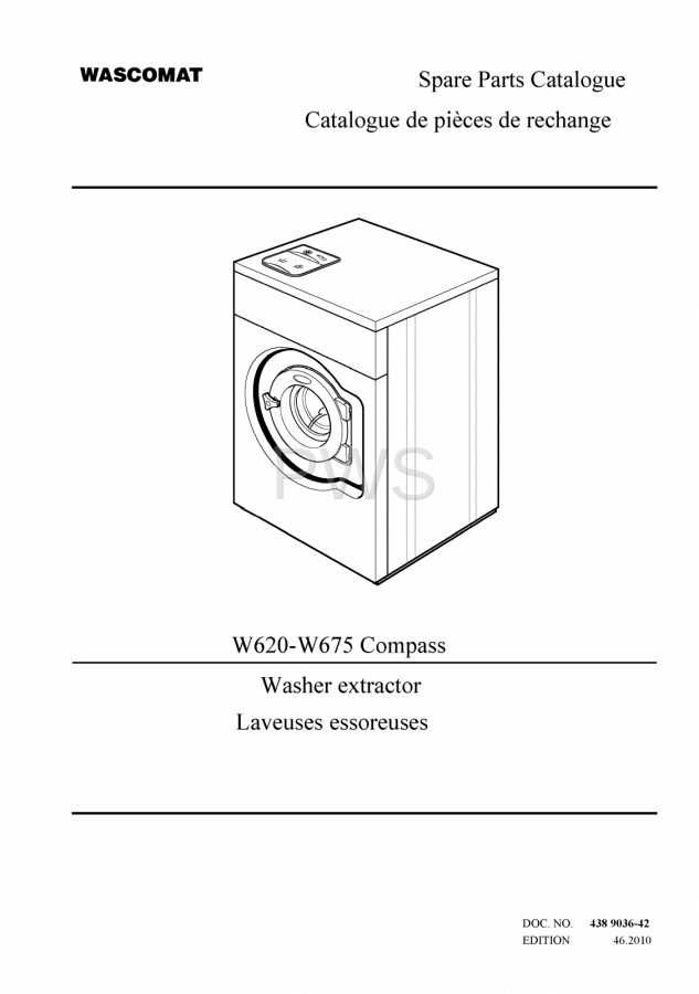 Diagrams Parts And Manuals For Wascomat W675 Compass Washer