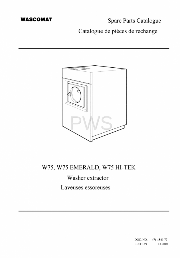 diagrams, parts and manuals for wascomat w75 washer Rally Wiring Diagram wascomat parts diagrams, parts and manuals for wascomat w75 washer