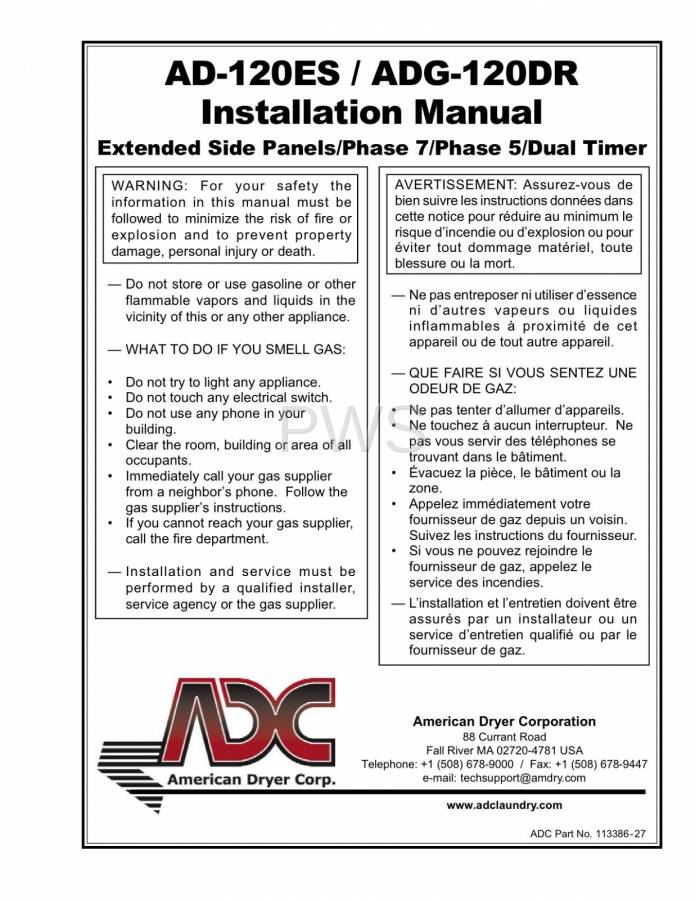 Diagrams  Parts And Manuals For American Dryer Adg