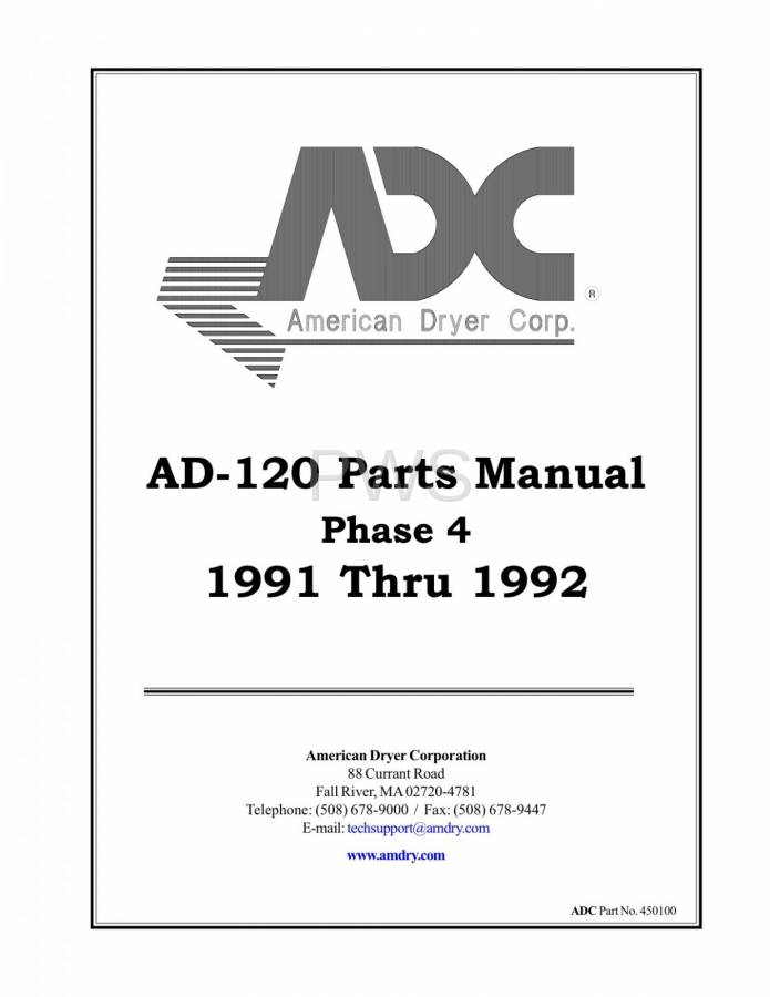 diagrams parts and manuals for american dryer ad 120 dryer
