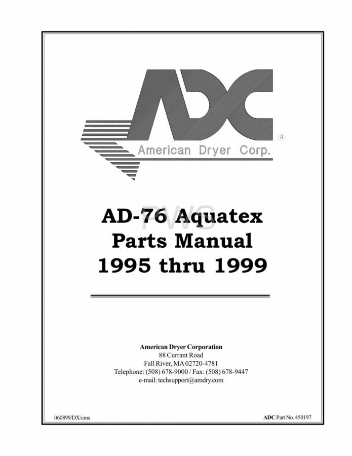 Diagrams Parts And Manuals For American Dryer Ad 76 Dryer