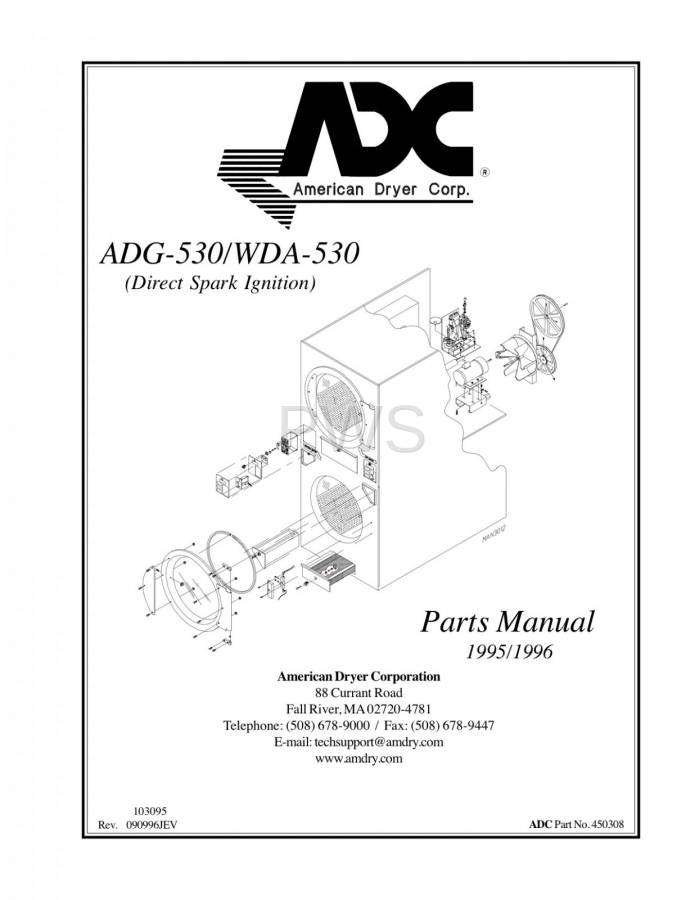 Diagrams Parts And Manuals For American Dryer Adg 530 Dryer
