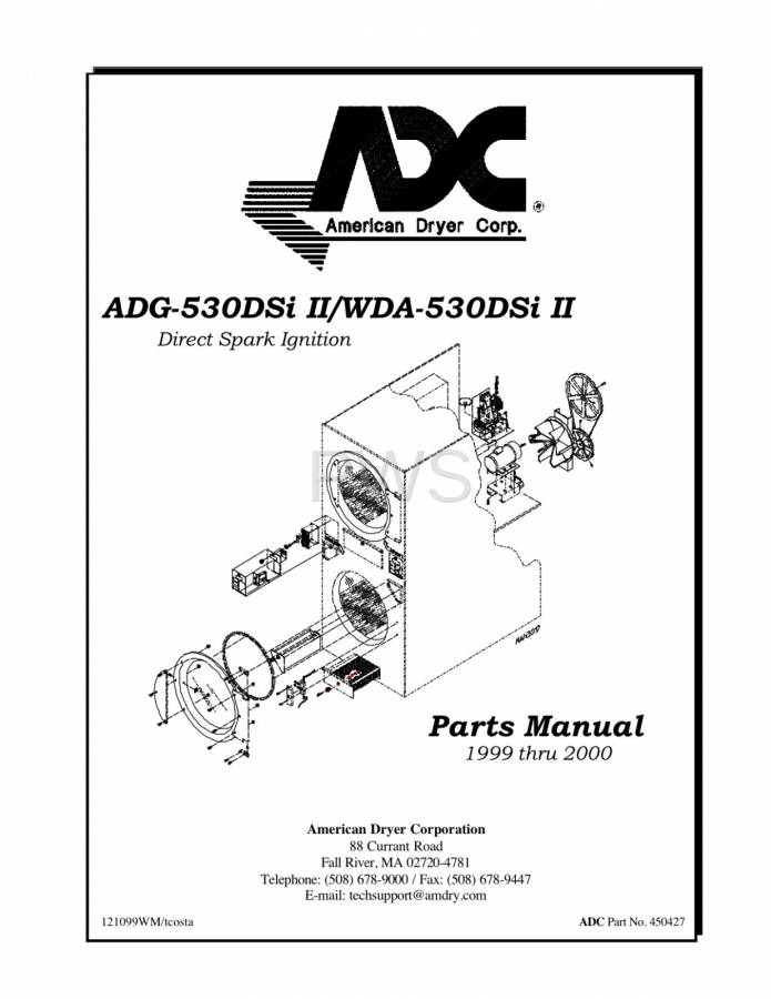 Diagrams  Parts And Manuals For American Dryer Wda