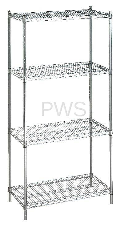 rb wire products rb wire su246072 shelving unit 24x60x72 wo casters - Wire Shelving Units