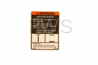 Unimac Parts - Unimac #81968R1 Washer LABEL DOOR-WARNING