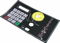 Unimac Parts - Unimac #F9001561R2 Washer OVERLAY KEYPAD WE-8 UX/SX