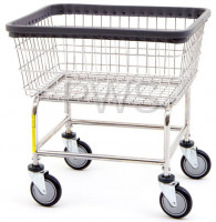 R&B Wire Products - R&B Wire #100E Rolling Standard Laundry Cart/Chrome Basket on Wheels