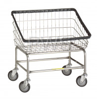 R&B Wire Products - R&B Wire #200S Large Capacity Front Load Laundry Cart/Chrome Basket on Wheels
