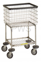 R&B Wire Products - R&B Wire #300G Deluxe Elevated Laundry Cart/Chrome Basket on Wheels