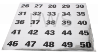Miscellaneous Parts - NUMBER STICKER 26-50