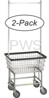 R&B Wire Products - R&B Wire 100E58 2-Pack Rolling Standard Laundry Cart - Chrome