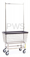 R&B Wire Products - R&B Wire #201H56 Mega Capacity Laundry Cart w/ Double Pole Rack