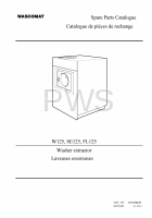 Wascomat Parts - Diagrams, Parts and Manuals for Wascomat W125 Washer