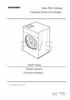 Wascomat Parts - Diagrams, Parts and Manuals for Wascomat SU655 Clarus Washer