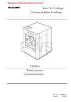 Wascomat Parts - Diagrams, Parts and Manuals for Wascomat EX630c/s Washer