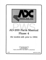 American Dryer Parts - Diagrams, Parts and Manuals for American Dryer AD-200 Dryer