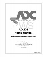 American Dryer Parts - Diagrams, Parts and Manuals for American Dryer AD-235 Dryer