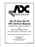 American Dryer Parts - Diagrams, Parts and Manuals for American Dryer AD-36 Dryer