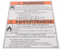 Alliance Parts - Alliance #F8319701 LABEL WARNING FIRE&INJURY