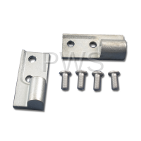Wascomat Parts - Wascomat #487339002 Dryer KIT,HINGE BLOCK (TOP & BOT) ALUM