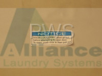 Alliance Parts - Alliance #803011R1 Washer/Dryer LABEL NOTICE PUSH-PULL DOOR