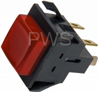 Econo-Wash Parts - Econo-Wash #M413431 Dryer SWITCH PUSH BUTTON-LIGHTED