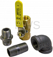 Cissell Parts - Cissell #M4983P3 Dryer KIT SHUT OFF VALVE