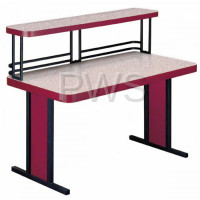 Sol-O-Matic - Sol-O-Matic TFL-2460-U Fiberglass Laminate Tables w/Upper Shelf