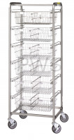 R&B Wire Products - R&B Wire 1006 Six Basket Resident Item Cart