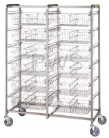R&B Wire Products - R&B Wire 1012 Twelve Basket Resident Item Cart