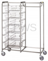 R&B Wire Products - R&B Wire 1014 Six Basket/Garment Hanger Resident Item Cart