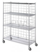 "R&B Wire Products - R&B Wire LC2436-KIT Chrome Plated Side & Back Enclosure Panels for 24"" Wide Units (4 each)"