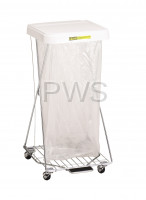 R&B Wire Products - R&B Wire 697 Wire Hamper Stand w/Foot Pedal