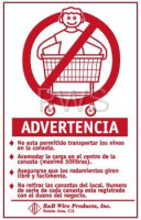 R&B Wire Products - Wall Mounted Warning Sign - Spanish