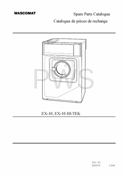 Wascomat Parts - Diagrams, Parts and Manuals for Wascomat EX-10 HI-TEK Washer