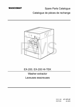 Wascomat Parts - Diagrams, Parts and Manuals for Wascomat EX-200 Washer