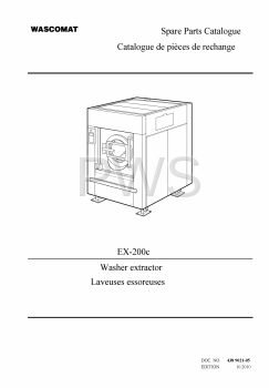 Wascomat Parts - Diagrams, Parts and Manuals for Wascomat EX-200c Washer