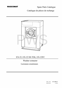 Wascomat Parts - Diagrams, Parts and Manuals for Wascomat EX-22 HI-TEK Washer
