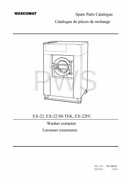 Wascomat Parts - Diagrams, Parts and Manuals for Wascomat EX-22FC Washer