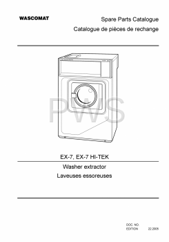 Wascomat Parts - Diagrams, Parts and Manuals for Wascomat EX-7 HI-TEK Washer