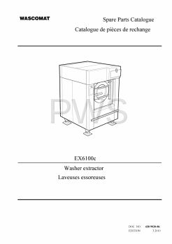 Wascomat Parts - Diagrams, Parts and Manuals for Wascomat EX6100c Washer