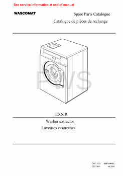 Wascomat Parts - Diagrams, Parts and Manuals for Wascomat EX618 Washer