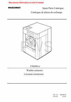Wascomat Parts - Diagrams, Parts and Manuals for Wascomat EX640c/s Washer
